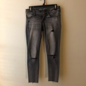 American Eagle washed black jeggings